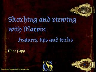 Sketching and viewing with Marvin   Features, tips and tricks