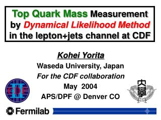 Top Quark Mass  Measurement by  Dynamical Likelihood Method in the lepton+jets channel at CDF
