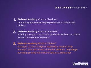 """Wellness Academy  Modulul """"Produse"""""""