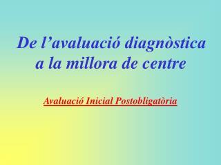 De l'avaluació diagnòstica a la millora de centre