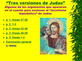 p. 1, líneas 27-29 p. 2, 1-3 p. 2, líneas 22-26 p. 2, líneas 26-30 p. 3, líneas 1-4
