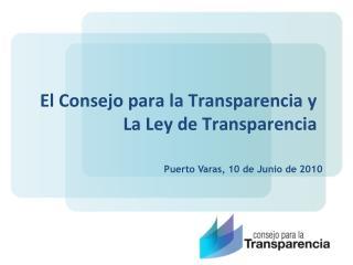 El Consejo para la Transparencia y La Ley de Transparencia