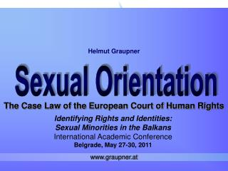The Case Law of the European Court of Human Rights