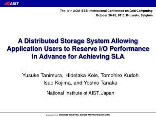 Yusuke Tanimura , Hidetaka Koie, Tomohiro Kudoh Isao Kojima, and Yoshio Tanaka