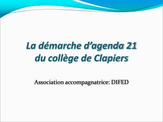 La démarche d'agenda 21  du collège de Clapiers