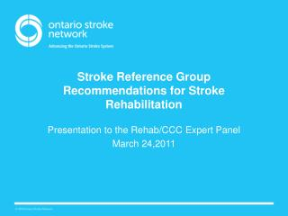 Stroke Reference Group Recommendations for Stroke Rehabilitation