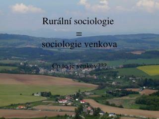 Rur�ln� sociologie