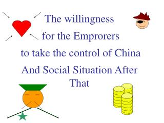 The willingness  for the Emprorers  to take the control of China And Social Situation After That