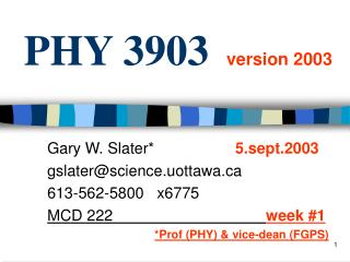 PHY 3903 version 2003