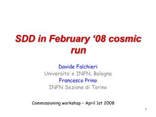 SDD in February '08 cosmic run