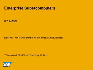Enterprise Supercomputers