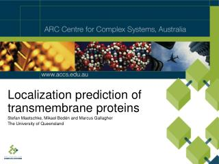 Localization prediction of transmembrane proteins