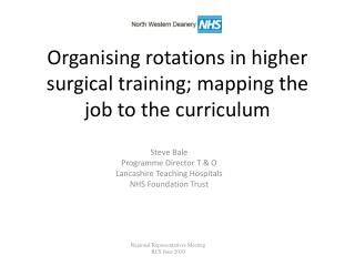 Organising rotations in higher surgical training; mapping the job to the curriculum