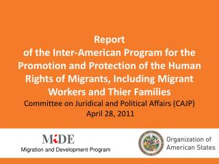 Migration and Development Program
