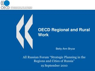 OECD Regional and Rural Work