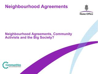 Neighbourhood Agreements