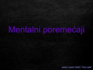 Mentalni poremećaji