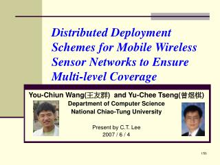 Distributed Deployment Schemes for Mobile Wireless Sensor Networks to Ensure Multi-level Coverage
