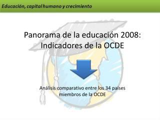 Panorama de la educación 2008: Indicadores de la OCDE
