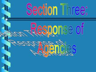 Section Three: Response of Agencies