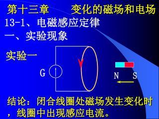第十三章    变化的磁场和电场