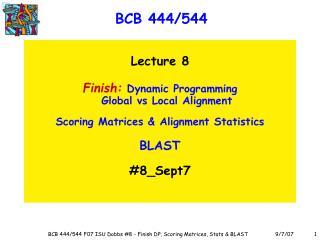 BCB 444/544