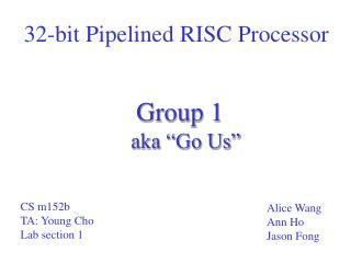 32-bit Pipelined RISC Processor
