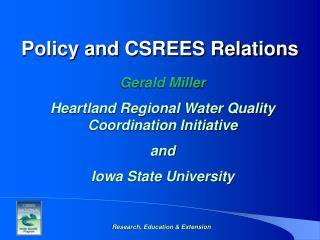 Policy and CSREES Relations