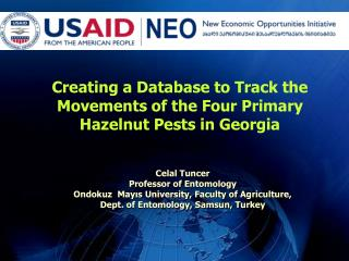 Creating a Database to Track the Movements of the Four Primary Hazelnut Pests in Georgia