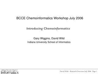Introducing Chemoinformatics