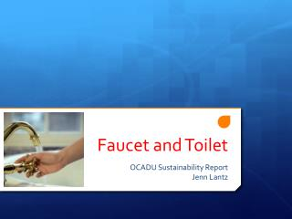 Faucet and Toilet