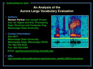 An Analysis of the Aurora Large Vocabulary Evaluation