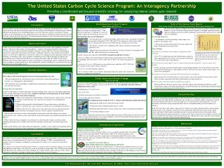 The United States Carbon Cycle Science Program: An Interagency Partnership