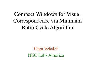 Olga Veksler NEC Labs America