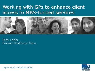 Working with GPs to enhance client access to MBS-funded services