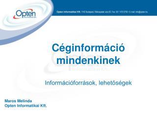 Maros Melinda Opten Informatikai Kft.