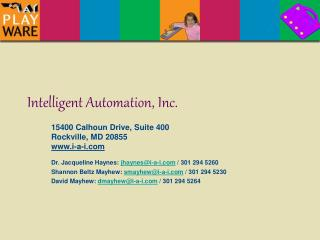 Intelligent Automation, Inc.