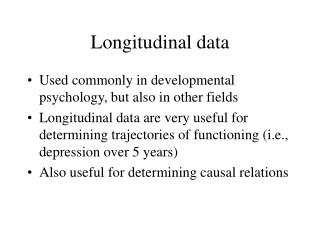 Longitudinal data