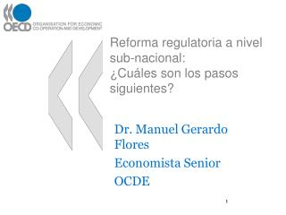 Reforma regulatoria a nivel sub-nacional: ¿Cuáles son los pasos siguientes?