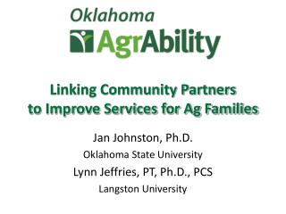 Linking Community Partners  to Improve Services for Ag Families