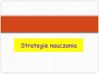 Strategie nauczania