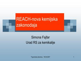 REACH-nova kemijska zakonodaja