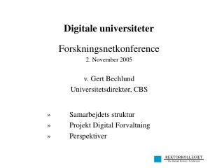 Digitale universiteter