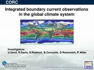 Integrated boundary current observations  in the global climate system