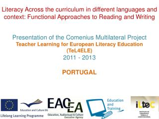 Presentation of the Comenius Multilateral Project