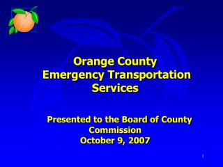 Orange County   Emergency Transportation Services