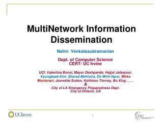 MultiNetwork Information Dissemination
