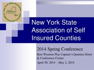 New York State Association of Self Insured Counties