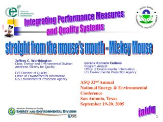 Integrating Performance Measures   and Quality Systems
