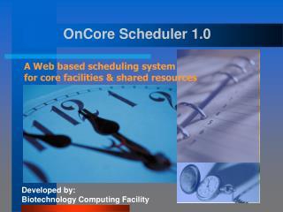 OnCore Scheduler 1.0